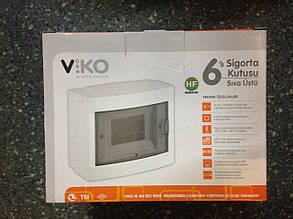 Щиток під автомат зовн 6 білий +кр VIKO
