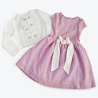 Модное детское платье с пышной юбкой и болеро.