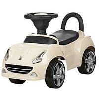 Детская каталка-толокар Bambi Бежевый (HZ 603) с колесами Eva Foam