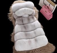 Женская меховая жилетка. Модель 61708, фото 2