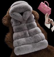 Женская меховая жилетка. Модель 61708, фото 3