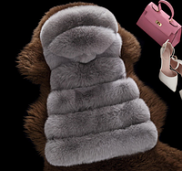 Женская меховая жилетка. Модель 61708, фото 4
