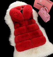 Женская меховая жилетка. Модель 61708, фото 5