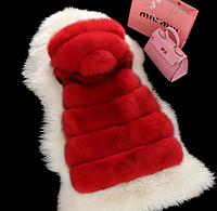 Женская меховая жилетка. Модель 61708, фото 6