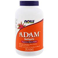 Адам Витамины для мужчин 180 гелевых капс мужские мультивитамины NOW Foods USA