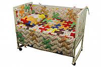 Спальный комплект для детской кроватки Руно Пазлы 02