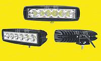 Дополнительные светодиодные фары дальнего света  07-18W Yellow