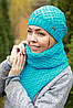 Комплект шапка и шарф шерстяной, фото 5