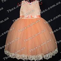 Детское платье бальное Ажур (персиковое) Возраст 4-5 лет., фото 1