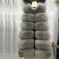 Женская меховая жилетка. Модель 61709
