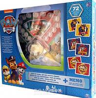 Набор настольных игр Spin Master Games Щенячий патруль игра с кнопкой и мемори