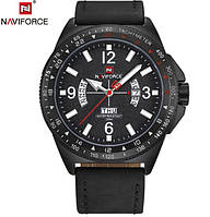 Військовий протиударний чоловічий годинник Naviforce Forever (Black) (№9103) Для справжніх чоловіків
