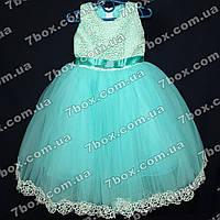 Детское платье бальное Ажур (мята) Возраст 4-5 лет., фото 1