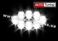 TeleMIX - Дополнительная оптика, светодиодная лампа-фара с радиатором охлаждения, 8 LED, ближний свет, 1 шт