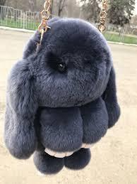 Сумка, рюкзак Кролик черный цвет (натуральный мех)