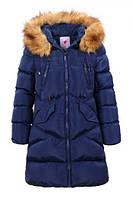 Зимнее пальто для девочки, рост 134-170, ТМ Glo-story GMA-4434