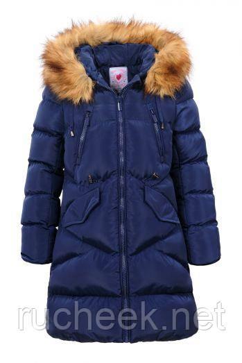 Зимнее пальто для девочки, рост 152-164, ТМ Glo-story GMA-4434