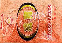 Бисер мелкий 450грм в упаковке, цвет яркий-персик-перламутр