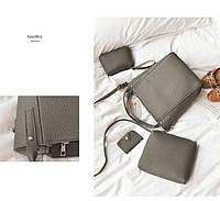 Женская сумка набор комплект 4 в 1 серый