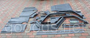 Бічні частини (23 елемента) стиль Brabus WideStar Mercedes-Benz G-Class W463 Скловолокно