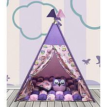 Вігвам Хатка комплект Бонбон Сови Фіолетовий