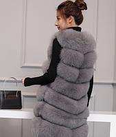Женская меховая жилетка. Модель 61713, фото 2