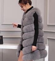 Женская меховая жилетка. Модель 61713, фото 3