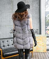 Женская меховая жилетка. Модель 61714, фото 3