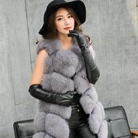 Женская меховая жилетка. Модель 61714