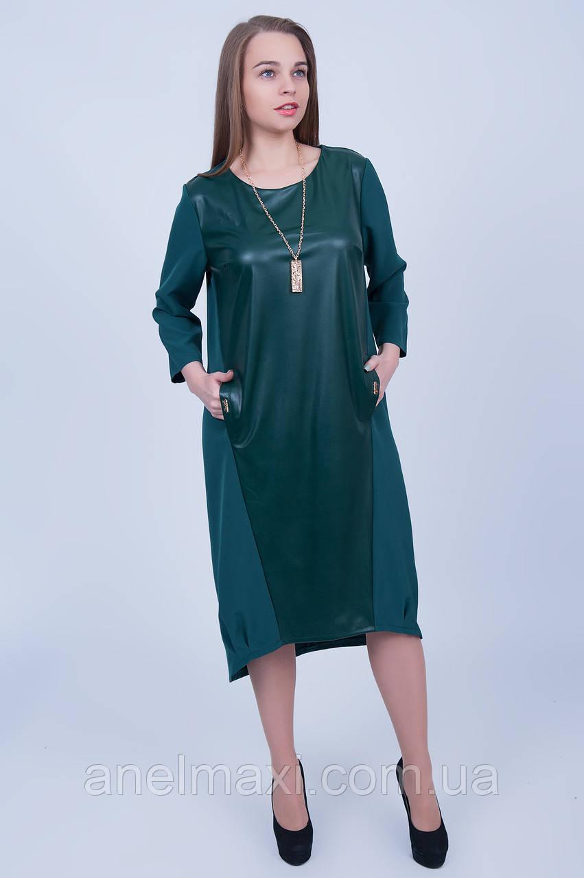 2d90356b6da Молодежное платье свободного кроя 596 (52 54 56 58) - Женская одежда больших  размеров