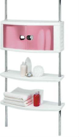 Шкафчик для ванной с 2-мя полками,на 2-х штангах