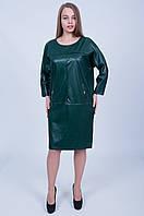 Стильное платье бутылочного цвета 595 ( 58 ), фото 1