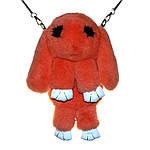 Сумка, рюкзак Кролик оранжевый цвет (натуральный мех), фото 3