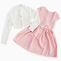 Элегантное нарядное платье  с ажурным болеро  для девочки.122,134р, фото 1
