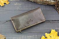 Большой кошелек с карманом на змейке 283011 - шоколадный