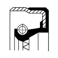 Сальник ступицы дифференциала MB B1BASFDRW 45X65X11 ACM (производитель Corteco) 01019154B