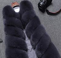 Жіноча хутряна жилетка. Модель 61717, фото 2