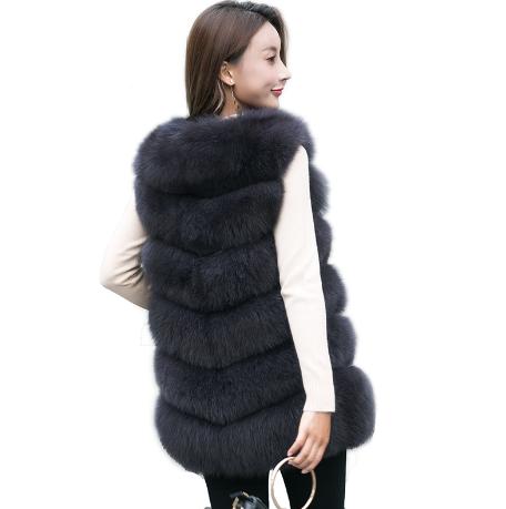 Женская меховая жилетка. Модель 61717