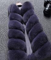 Женская меховая жилетка. Модель 61717, фото 3