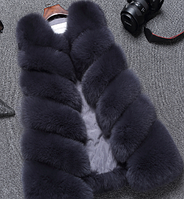 Жіноча хутряна жилетка. Модель 61717, фото 4