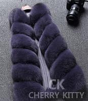 Женская меховая жилетка. Модель 61717, фото 5