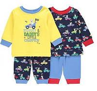 Комплект детских пижам с принтом George для мальчика от 1 года до 2 лет
