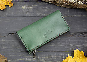 Большой кошелек с карманом на змейке 283013 - зеленый, фото 2