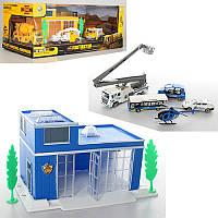 Подарочный игровой набор Полицейская станция, транспорт металл, здание, в коробке34-14-19 см