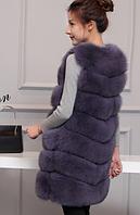 Женская меховая жилетка. Модель 61718, фото 7