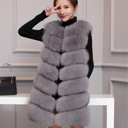 Женская меховая жилетка. Модель 61718