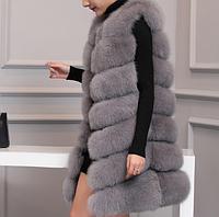 Женская меховая жилетка. Модель 61718, фото 2