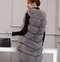 Женская меховая жилетка. Модель 61718, фото 3