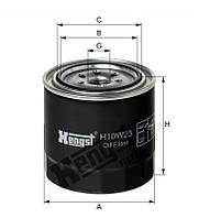 Фильтр масляный (производитель Hengst) H10W23