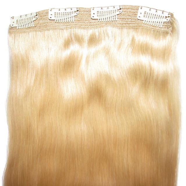 Натуральные волосы на клипсах 52 см Оттенок №20 100 грамм